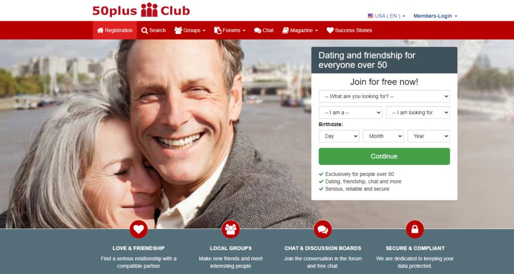 50plus Club páginas de citas para mayores de 50 años